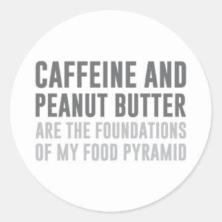 Caffeine & Peanut Butter Classic Round Sticker