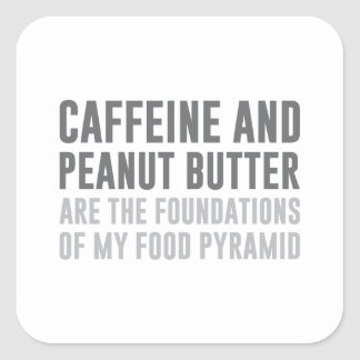 Caffeine & Peanut Butter Square Sticker