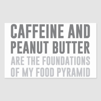 Caffeine & Peanut Butter Sticker