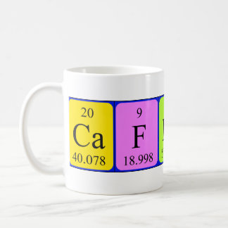 Caffeine periodic table mug