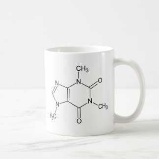 Caffeine.png Basic White Mug