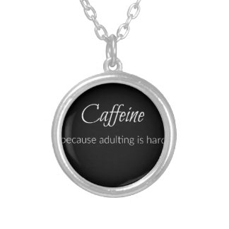 Caffeine Silver Plated Necklace