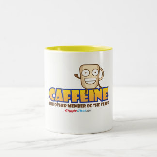Caffeine, The Other Member of the Staff Two-Tone Coffee Mug