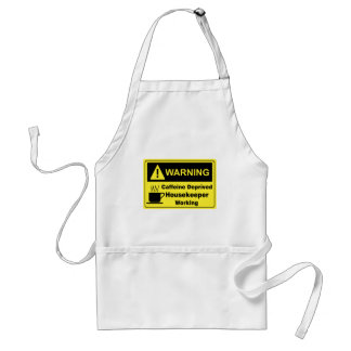 Caffeine Warning Housekeeper Standard Apron