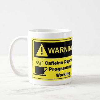 Caffeine Warning Programmer Coffee Mug