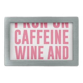 Caffeine Wine & Cuss Words Belt Buckles
