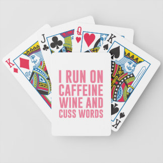 Caffeine Wine & Cuss Words Bicycle Playing Cards