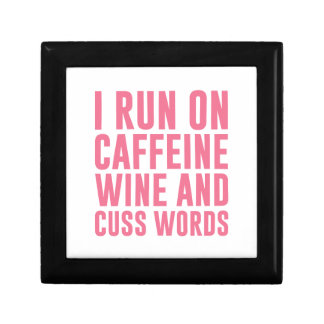 Caffeine Wine & Cuss Words Gift Box