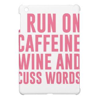 Caffeine Wine & Cuss Words iPad Mini Cases
