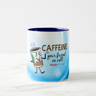 Caffeine, Your Friend on Call Two-Tone Coffee Mug