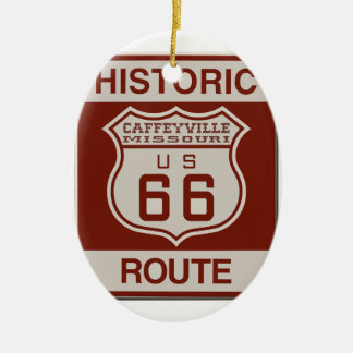 CAFFEYVILLE66 CERAMIC ORNAMENT