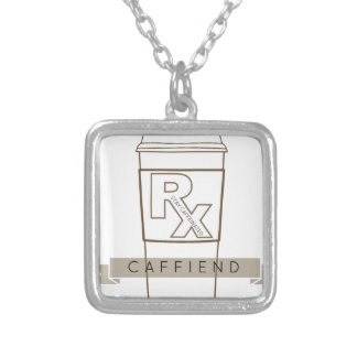 Caffiend Silver Plated Necklace