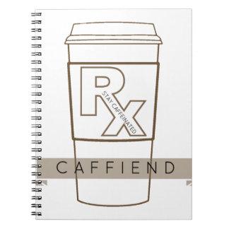 Caffiend Spiral Notebook