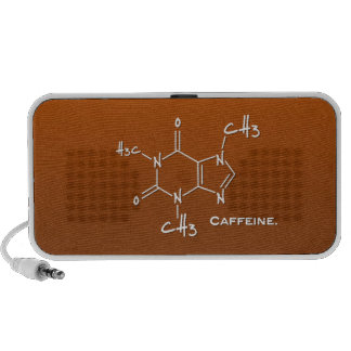 Caffiene molecule (chemical structure) portable speakers