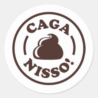 Caga Nisso! Classic Round Sticker
