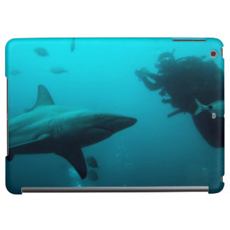 Cage Diving With Blacktip Sharks iPad Air Cases