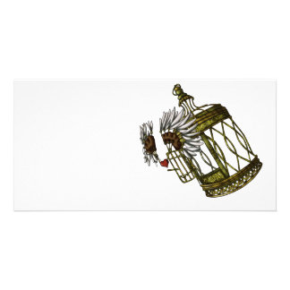 Caged Heart Personalized Photo Card