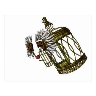 Caged Heart Postcard