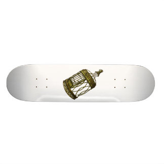 Caged Heart Skate Board Deck