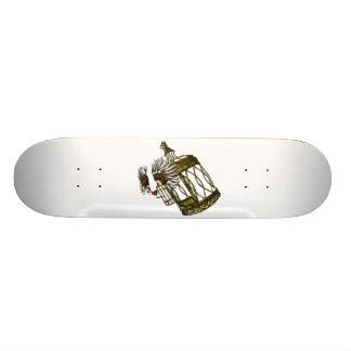 Caged Heart Skateboard Deck