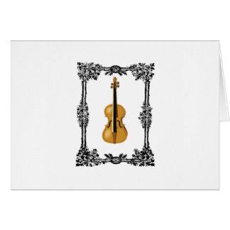 caged violin card