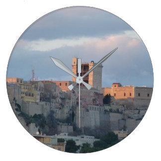 Cagliari,sardinia,italy Large Clock