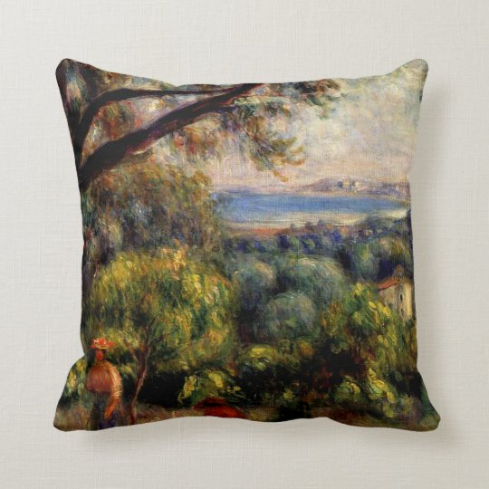 Cagnes Landscape Throw Pillow