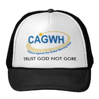 CAGWH HAT, TRUST GOD NOT GORE TRUCKER HAT