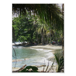 Cahuita beach in Costa Rica Poster