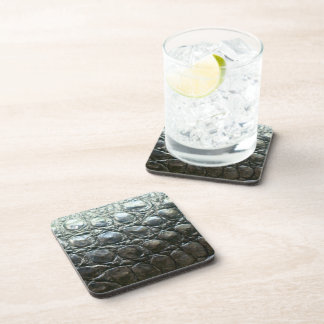 Caiman Crocodile Faux Alligator-Skin Design Coaster