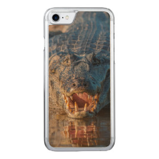 Caiman shows its teeth, Brazil Carved iPhone 8/7 Case