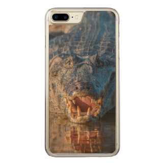 Caiman shows its teeth, Brazil Carved iPhone 8 Plus/7 Plus Case