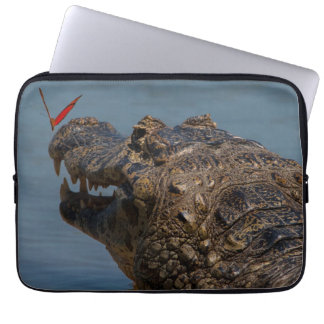 Caiman with a butterfly, Brazil Laptop Sleeve