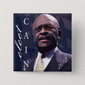 Cain for President 2012 2 Inch Square Button
