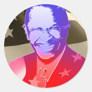 Cain-Herman Round Sticker
