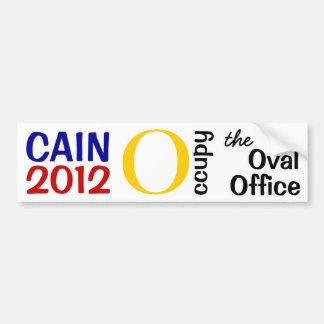 Caïn occupent le bureau ovale autocollant de voiture