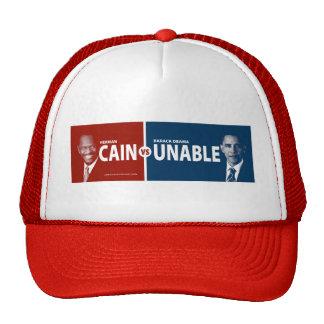 CAIN vs UNABLE Herman Cain 2012 Mesh Hat