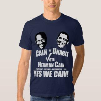 Cain vs Unable - Vote Herman Cain Shirt