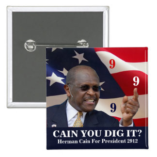 Cain You Dig It? 2 Inch Square Button