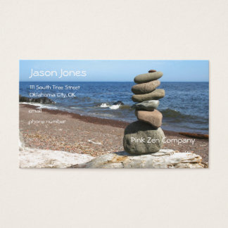 Cairn Meditation Stones Business Card