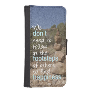 Cairn Photograph and Text Message iPhone 5 Wallet