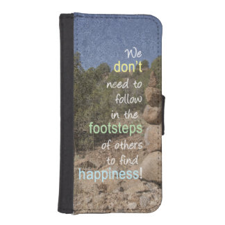 Cairn Photograph and Text Message iPhone 5 Wallet Cases