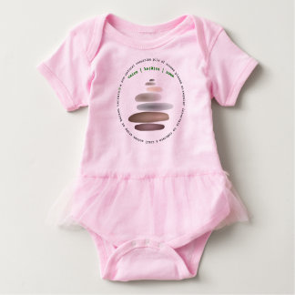 Cairn stacked stone baby bodysuit