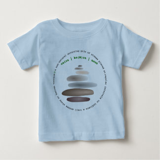 Cairn stacked stone baby T-Shirt