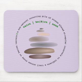 Cairn stacked stone mouse pad