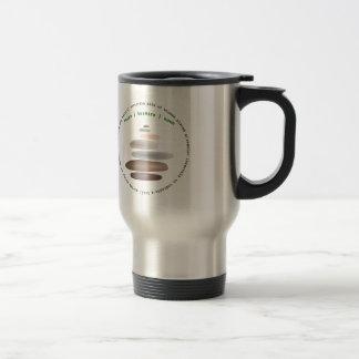 Cairn stacked stone travel mug