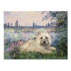 Cairn Terrier 4 - By the Seine Postcard