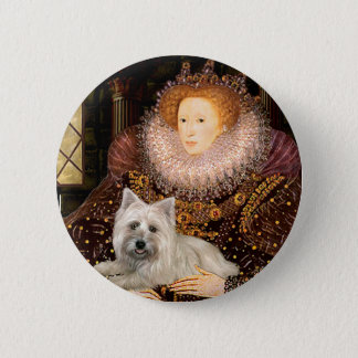 Cairn Terrier 4 - Queen 2 Inch Round Button