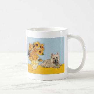 Cairn Terrier 4 - Sunflowers Coffee Mug
