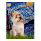 Cairn Terrier 9 - Starry Night Postcard